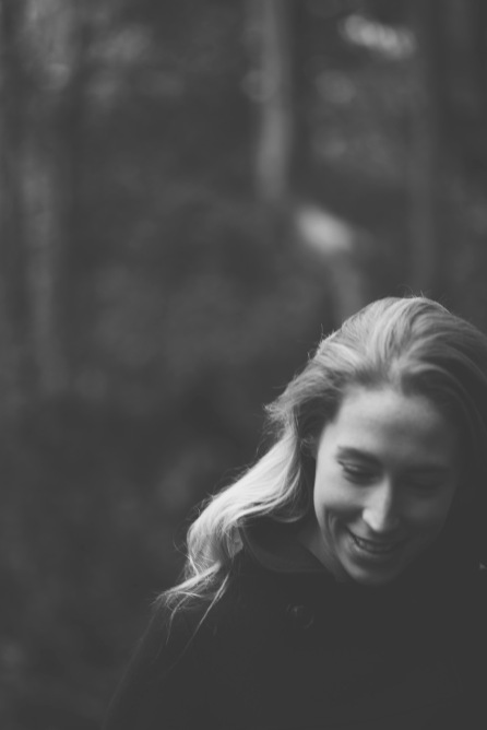 A wonder through the woods for an engagement shoot